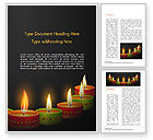 Holiday/Special Occasion: Happy Diwali Word Template #14723