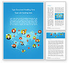 Business Concepts: Global Worldwide People Connections Word Template #14725