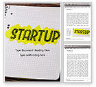 Business Concepts: Startup Hand Drawn Label on Paper Word Template #14729