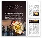 Technology, Science & Computers: Geschäftsmannsteuerung mit bitcoin-technologie Word Vorlage #14738