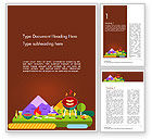 Holiday/Special Occasion: BBQ Picnic Illustration Word Template #14739