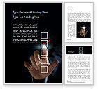 Business Concepts: Businessman Checking Mark on Checklist Word Template #14740