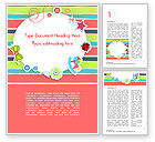 Holiday/Special Occasion: Modèle Word de invitation colorée de baby shower #14749