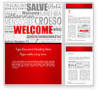 Business Concepts: Willkommenswortwolke in verschiedenen sprachen Word Vorlage #14773