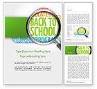 Education & Training: Modelo do Word - de volta à nuvem de palavras da escola #14780