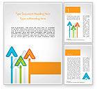 Business Concepts: Upward Pijlen Thema Word Template #14786