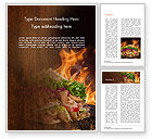 Food & Beverage: Kebab Sandwich Word Template #14794