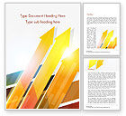 Abstract/Textures: Upward Colored Arrows with Reflections Word Template #14795