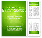 Education & Training: Back to School on Chalkboard Word Template #14796