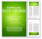 Education & Training: Terug Naar School Op Schoolbord Word Template #14796