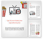 Art & Entertainment: Hand Drawn Entertainment Symbols Word Template #14798