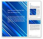 Abstract/Textures: Blauwe Diagonale Abstracte Beweging Achtergrond Word Template #14799