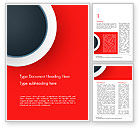 Abstract/Textures: Circle on Red Abstract Background Word Template #14801
