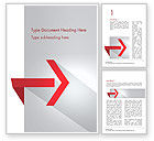 Business Concepts: Right Red Arrow Theme Word Template #14803