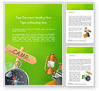 Careers/Industry: Camping Accessories Word Template #14804
