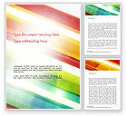 Abstract/Textures: Colorful Diagonal Stripes Word Template #14811