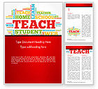 Education & Training: Teach Word Cloud Word Template #14816