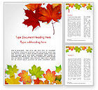 Nature & Environment: Autumn Maple Leaves Word Template #14819