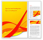 Abstract/Textures: Red and Yellow Curves Word Template #14824