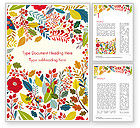 Art & Entertainment: Autumn Bloom Word Template #14826