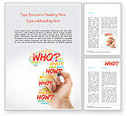 Education & Training: A Hand Writing Questions Word Template #14829