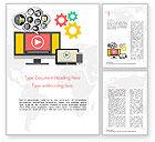 Careers/Industry: Video Marketing Word Template #14832