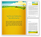 Agriculture and Animals: Idyllic Farm Landscape Word Template #14834