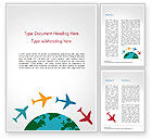 Global: Airplane Travel Concept Word Template #14836