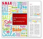Careers/Industry: Sale Word Cloud Word Template #14837