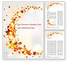 Nature & Environment: Autumn Leaves and Sunbeams Word Template #14839