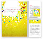 Abstract/Textures: Paint Stains on Yellow Background Word Template #14840