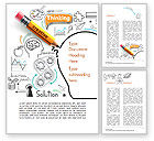 Business Concepts: Creative Thinking Doodles Word Template #14842