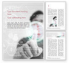 Technology, Science & Computers: Templat Word Insinyur Menyentuh Layar Berteknologi Tinggi #14843