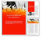 Business: Five Business Partners Keeping Thumbs Up Word Template #14847