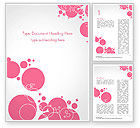 Careers/Industry: Pink Bubbles and Circles Background Word Template #14850