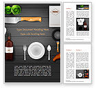 Food & Beverage: Kitchen Utensil Illustration Word Template #14851