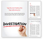 Business Concepts: A Hand Writing Investigation Word Template #14858
