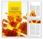 Abstract/Textures: Red an Yellow Overlapping Squares Word Template #14859