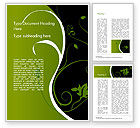 Art & Entertainment: Florid Green Frame Word Template #14861