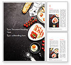 Food & Beverage: Cooking a Breakfast Word Template #14874