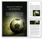 Sports: Soccer Ball Word Template #14884
