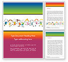 Education & Training: Happy Children's Day Word Template #14898