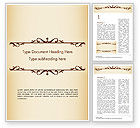 Abstract/Textures: Calligraphy Frame Word Template #14901
