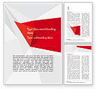 Abstract/Textures: Red Paper Origami Polygonal Shape Word Template #14903