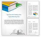 Education & Training: Books Word Template #14906