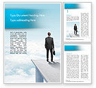Business Concepts: Businessman Standing on Pier Word Template #14907