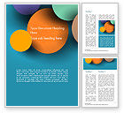 Abstract/Textures: Colorful Paper Circles Word Template #14910