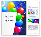 Holiday/Special Occasion: Happy Birthday Card Design Word Template #14918