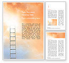 Religious/Spiritual: Ladder to The Sky Word Template #14919