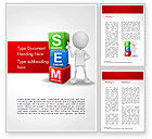 Careers/Industry: Search Engine Marketing Word Template #14923